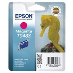Epson T0483 Inkjet Cartridge Seahorse Page Life 400pp Magenta Ref C13T04834010
