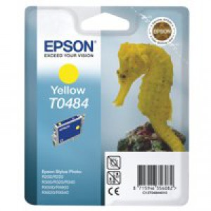 Epson R300/RX500 Inkjet Cartridge Yellow 13ml T0484 C13T048440