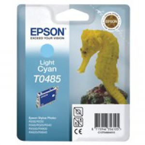 Epson R300/RX500 Inkjet Cartridge Light Cyan 13ml T0485 C13T048540