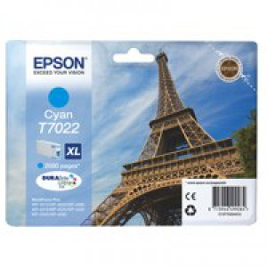 Epson WP4000/4500 Inkjet Cartridge High Yield Cyan C13T70224010