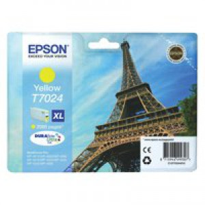 Epson WP4000/4500 Inkjet Cartridge High Yield Yellow C13T70244010