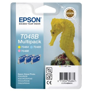 Epson R300/RX500 Inkjet Cartridge Multi Pack Light Cyan/Light Magenta/Yellow C13T048B40