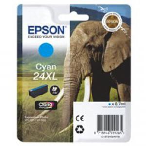 Epson XP750/850 Elephant Inkjet Cartridge 24XL High Yield Cyan