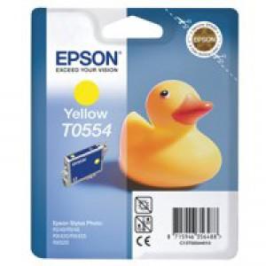 Epson T0554 Inkjet Cartridge Duck Yellow Ref C13T05544010