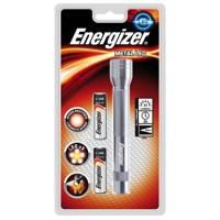 Energizer Fl Metal LED Torch 2xAA Silver 634041