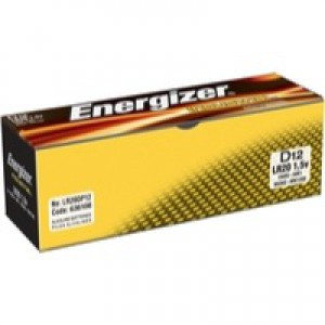 Energizer Industrial Battery D/LR20 Pack of 12 636108