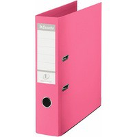 Esselte No1 Power Lever Arch File 75mm A4 Polypropylene Raspberry 231037