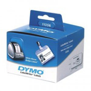 Dymo Name Badge 89x41mm White 11356 S0722560