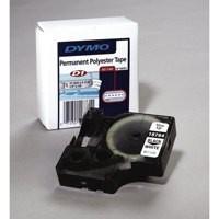 Dymo D1 Permanent Tape 12mm x5.5 Metres Black/White S0718060