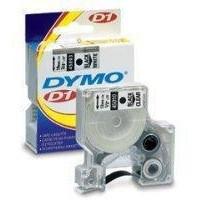 Dymo D1 Permanent Tape 19mm x5.5 Metres Black/White S0718070