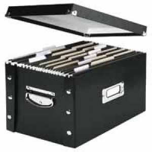 Leitz Vaultz Suspension File Store Box Black