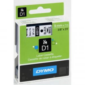Dymo 1000/5000 Tape 9mm x7m Black/White 40913 S0720680