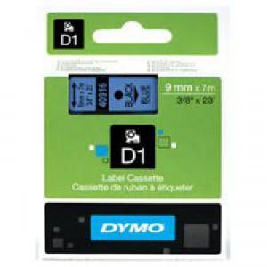 Dymo 1000/5000 Tape 9mm x7 Metres Black/Blue 40916 S0720710