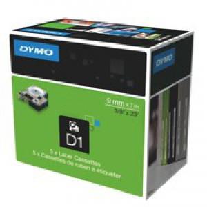 Dymo 1000/5000 Tape 9mm x7m Black/Red 40917 S0720720