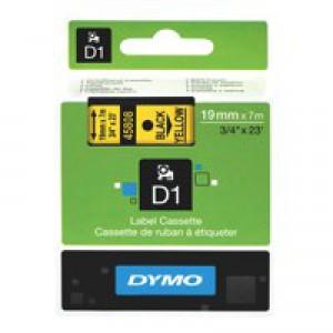 Dymo 2000/5500 Tape 19mm Black/Yellow 45808 S0720880