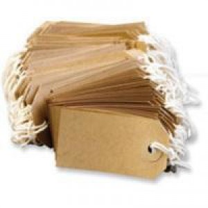 Fisher Clark Tags Strung 4A 108x54mm Buff Single Pack of 1000 TG8073