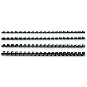 Acco GBC Binding Comb 19mm A4 21-Ring Black Pack of 100 4028601