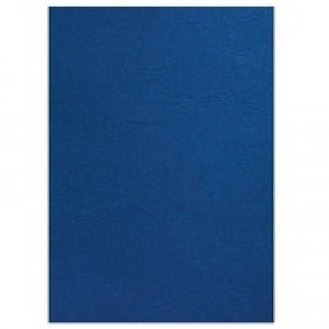 Acco GBC A4 Binding Covers 250gsm Textured Leathergrain Plain Royal Blue Pack of 100 CE040029
