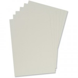 Acco GBC A4 Binding Covers 250gsm Textured Leathergrain Plain White Pack of 100 CE040070