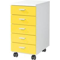 Image for Germania Contemporary Mobile Pedestal Yellow