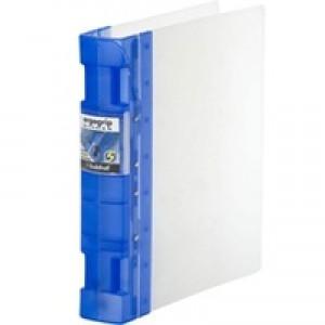 Guildhall GLX Ergogrip Binder Polypropylene 8 Prong/4 Ring 55mm A4 Frost Cobalt Blue 4542