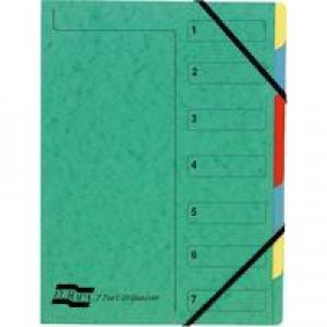 Europa 7-Part Organiser A4 Green 5220Z