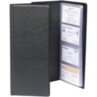 Goldline Business Card Holder Classic Black Capacity 128 CBC4P