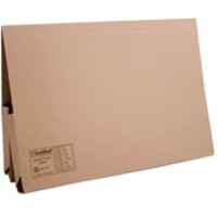 Guildhall Double Pocket Legal Wallet Foolscap Buff