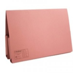 Guildhall Double Pocket Legal Wallet Foolscap Pink