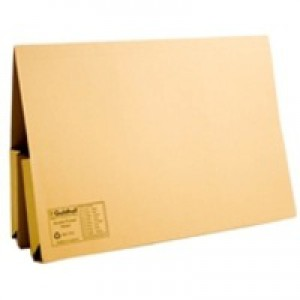 Guildhall Double Pocket Legal Wallet Foolscap Yellow