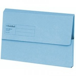 Guildhall Document Wallet Blue Angel Blue GDW1-BLU