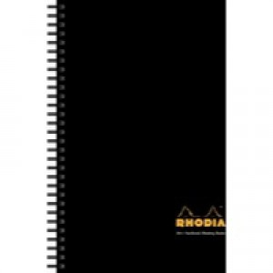 Rhodia Meeting Book A4+ Wirebound Hard Back Black (Pk 3) 119238C