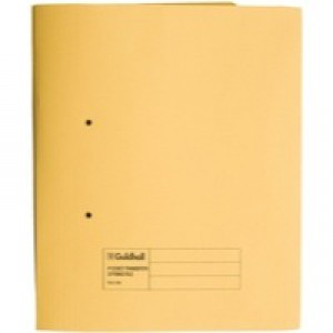 Guildhall Transfer Spring Pocket File Yellow 349-Yellow