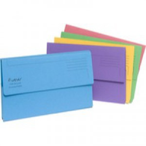 Guildhall Bright Manilla Wallet Foolscap 300gsm Assorted Pack 25 Code 211/5000
