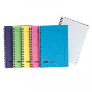 Europa Notemaker Book Sidebound Ruled 80gsm 120 Pages A5 Assorted C Ref 3155Z [Pack 10]