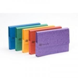Europa Pocket Document Wallet Foolscap Assorted Pk 25 4790