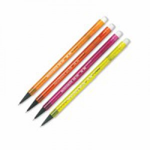PaperMate Automatic Pencil Non-Stop 0.7mm Neon Assorted Blister Pack of 4 S0187199