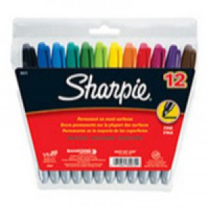 Sharpie Fine Point Permanent Marker Assorted Pack 12 Code S0811070