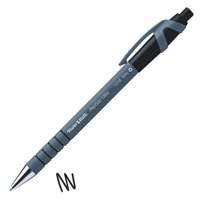 PaperMate Flexgrip Retractable Ball Point Pen Black (Pk 12) S0190393
