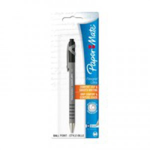 PaperMate Flexgrip Retractable Ballpoint Pen Black Blister Card S0300515