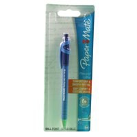 Papermate Flexgrip Retractable Ball Point Pen Blue Blister Card S0300535