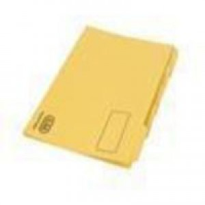Elba Tabbed Folder 290gsm Heavy-weight Foolscap Yellow 100090237