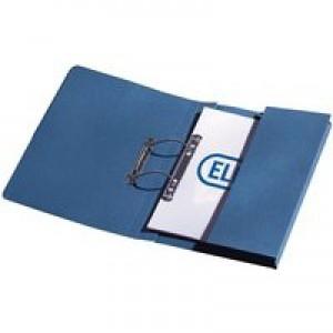 Elba Stratford Spring Pocket File Foolscap Blue 100090146