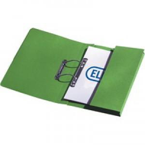 Elba Stratford Transfer Spring File Recycled Pocket 315gsm 32mm Foolscap Green Ref 100090147 [Pack 25]