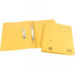 Elba Spirosort Spring File Foolscap Yellow 100090163