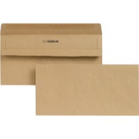 New Guardian Envelope DL 80gsm Manilla Self-Seal Pack of 1000 Recycled