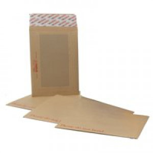 New Guardian Envelopes Heavyweight Board-backed Peel and Seal Manilla C4 [Pack 125]