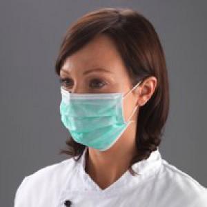 Shield Non-Woven 3-Ply Face Mask Green Pk 50 Dk01Gl