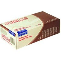 Shield Polypropylene Vinyl Gloves Clear Medium Pack of 100 GD47