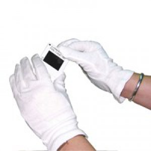HPC Knitted Cotton Gloves Large White Pack of 10 GI/NCME